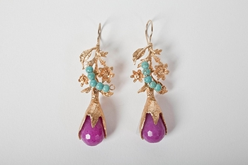 Picture of LEA EARRINGS FUXIA