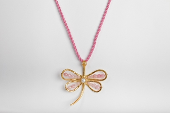 Picture of STONES DRAGONFLY PENDANT PINK
