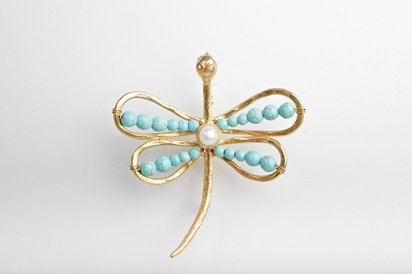 Picture of DRAGON FLY BROOCH TURQUOISE