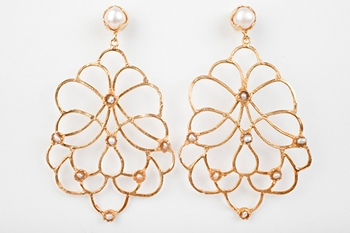 Picture of MARINA EARRINGS- PEARLS