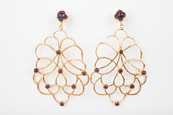 Picture of MARINA EARRINGS-AMATHIST