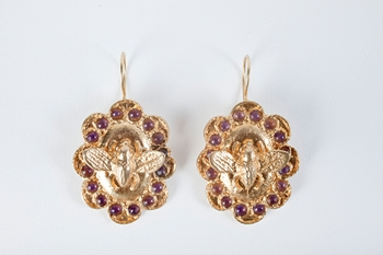 Picture of FLY EARRINGS AMETHYST