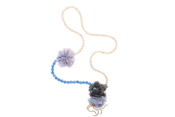 Picture of POMPON NECKLACE NAVY BLUE