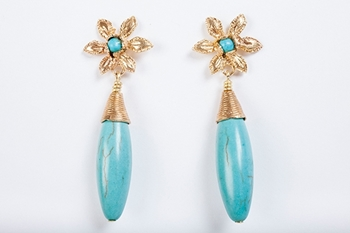 Picture of VEGA EARRING TURQUOISE