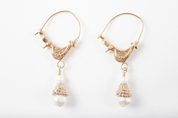Picture of BIRD EARRING PEARL