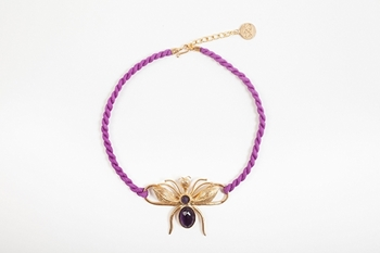 Picture of FLY NECKLACE PURPLE