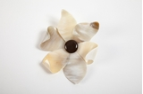 Picture of LILY HORN BROOCH NATURAL