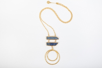 Picture of DOUBLE LOOP PENDANT BLUE