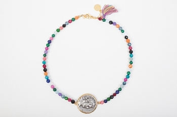 Picture of GREEK COIN NECKLACE MULTICOLOR