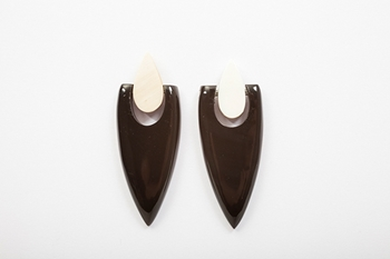 Picture of PUNK HORN EARRING BICOLOR