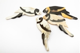 Picture of PARROT HORN BROOCH WHITE