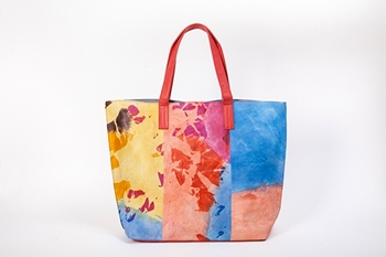 Picture of MULTICOLOR TIE DYE SHOPPING BAG