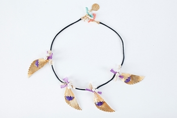 Picture of ART DECO NECKLACE PURPLE
