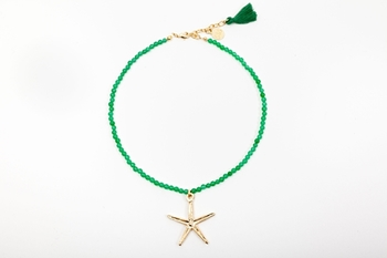 Picture of STARFISH NECKLACE GREEN