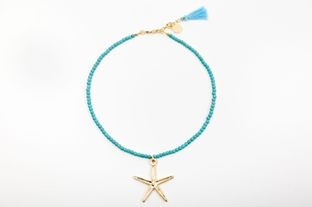 Picture of STARFISH NECKLACE TURQUOISE
