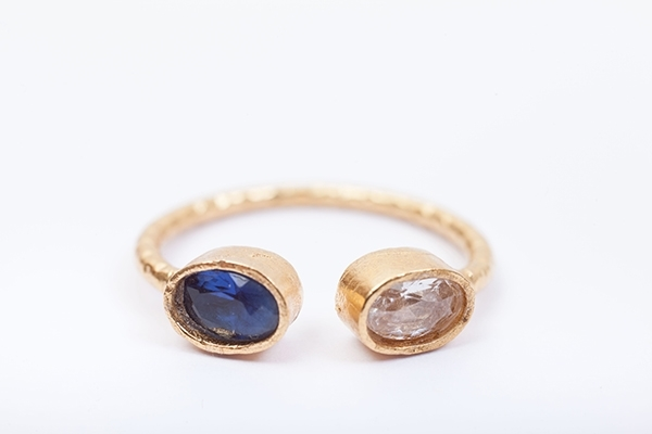 Picture of CHISPA RING CRYSTAL&BLUE