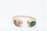 Picture of CHISPA RING CRYSTAL&GREEN