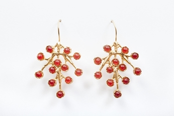 Picture of PUNTILLISTA EARRINGS BURGUNDY