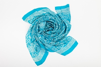Picture of XL SILK SCARF TURQUOISE