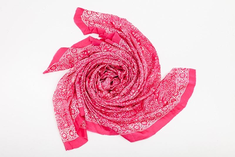 Picture of XL SILK SCARF PINK 2