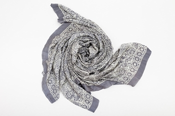 Picture of XL SILK SCARF GREY 1