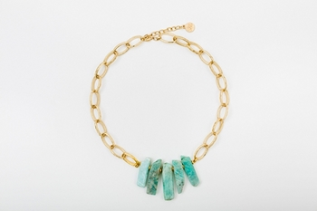 Picture of ESTALACTITA NECKLACE GREEN