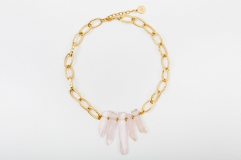 Picture of ESTALACTITA NECKLACE PINK