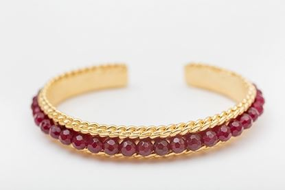 Picture of ROW BANGLE BURGUNDY