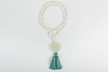 Picture of JADE LONG PENDANT PEARL