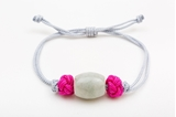 Picture of BARREL JADE BRACELET GREY