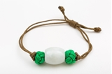 Picture of BARREL JADE BRACELET GREEN