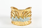 Picture of TROPICAL CUFF BRACELET AQUAMARINE
