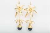 Picture of PALM TREE EARRING NAVY BLUE