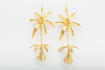 Picture of PALM TREE EARRING PEARL