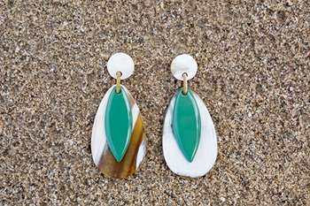 Picture of BORABORA EARRING GREEN