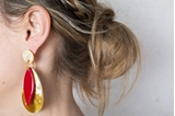 Picture of BORABORA EARRING RED