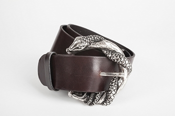 SNAKE BELT CHOCOLATE - S