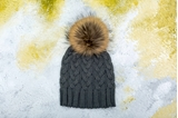 Picture of POMPON HAT GREY/ MINI