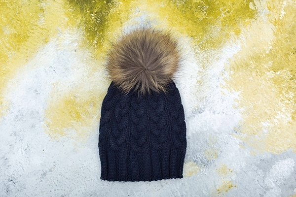 Picture of POMPON HAT NAVY BLUE/ MINI