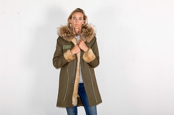 Picture of FUR MILITARY LONG PARKA RABBIT/FOX - S