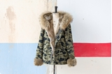 Picture of FUR CAMOUFLAGE SHORT PARKA RABBIT/FOX - M