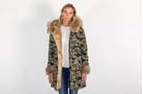 Picture of FUR CAMOUFLAGE LONG PARKA RABBIT/FOX - M
