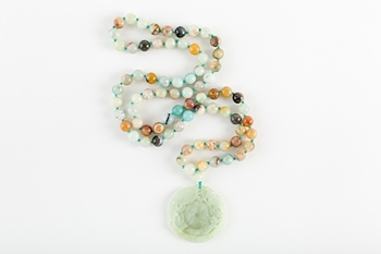 Picture of GREEN JADE LONG NECKLACE