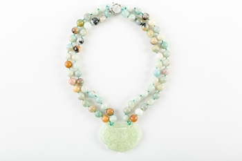 Picture of GREEN SHORT JADE NECKLACE