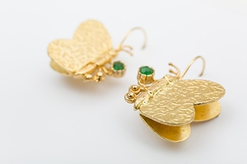 BUTTERFLY EARRINGS - GREEN