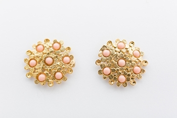 BLOSSOM EARRINGS- CORAL