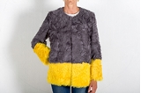 Picture of LAMB COAT GREY&YELLOW - SIZE S