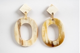 Picture of MIRÓ HORN EARRING NATURAL