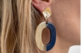 Picture of MIRÓ HORN EARRING BLUE