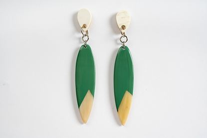 Picture of INDIANA HORN EARRING GREEN
